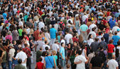 Jazz festival Crowd in Montreal — Stock Photo