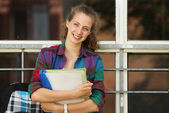 Student at school — Stock Photo
