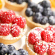 Berries tarts display — Stock Photo