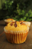 Muffins with nuts — Stock Photo