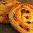 Постер, плакат: Sweet buns with raisins