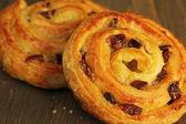 Sweet buns with raisins — Stock Photo