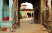 Sprzedawczyni w indiach — Zdjęcie stockowe