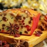 Christmas fruit cake — Stock Photo #15423679