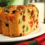 Christmas fruit cake — Stock Photo