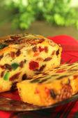 Christmas cake van het fruit — Stockfoto