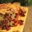 Christmas fruit cake - Foto de Stock