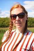 Red hair woman — Zdjęcie stockowe