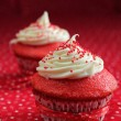Foto de Stock  : Two red velvet cupcake