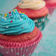Pink and blue cupcake — Foto Stock