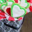 Heart cookies - Foto Stock