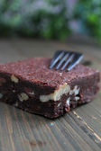 Brownie con tenedor — Foto de Stock