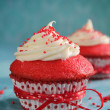 Red velvet cupcake - Stock Photo