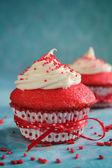 Red velvet cupcake — Stock Photo