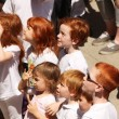 Gathering of redheads - Stock Photo