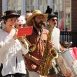 Musicians at cinqo de mayo parade - Stock Photo