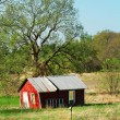 Stock Photo: Red barn