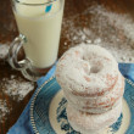 Ice sugar powder donut — Stock Photo