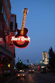 Hard rock neon sign — Stock Photo