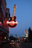 Hard rock neon sign — Stock Photo
