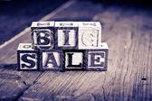 Big sale wood blocks — Stock Photo