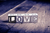 Love wood blocks — Stok fotoğraf