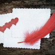 Romantic love letter — Stock Photo