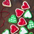 Foto Stock: Hearts cookies