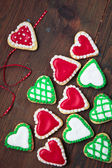 Hearts cookies — Stock Photo