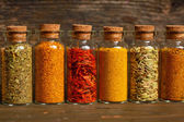 Spices, herbs and seeds — Stock Photo
