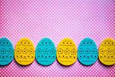 Banner de huevos de pascua — Foto de Stock