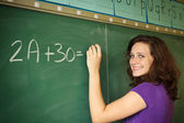 Student in a classroom — Stock Photo