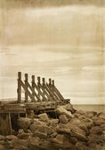 Old wooden quay — Stock Photo