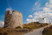 Wiatrak na milos island — Zdjęcie stockowe