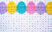 Easter eggs banner — Stock Photo