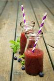Blueberry smoothies — Stock Photo