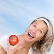 Woman and apple — Stock Photo #9258149