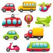 Cartoon transport set — Stock Vector #27747999