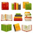 Book icons set — Stock Vector