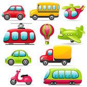 Cartoon transport set — Stock Vector