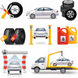 Stock Vector: Auto service set
