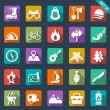Camping icons — Stock Vector #35414679