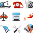 Car service and repair icons — Stock Vector #35414683