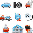 Car service icons — Stock Vector #35414687