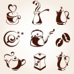 Coffee and tea elements set — Stock Vector