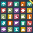 Clothes icons — Stock Vector #35414833
