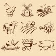 Farm emblems — Stock Vector #35415037