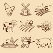 Stock Vector: Farm emblems