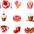 Food icons — Vector de stock #35415091