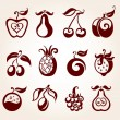 fruit set — Stockvector